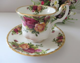 Royal Albert 1970's Old Country Roses vintage coffee cup and  saucer
