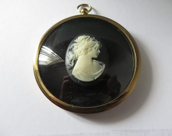 Peter Bates  vintage 1990's Girl in Cameo miniature round picture