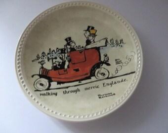 Norman Rockwell Walking through Merrie Englande vintage 1980's plate