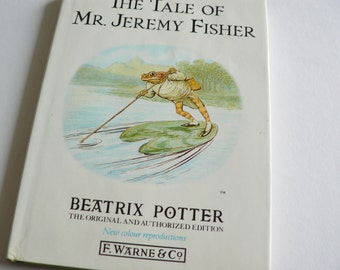 Beatrix Potter 1987 Tale of Jeremy Fisher vintage book