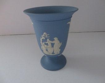 Wedgwood Jasperware vintage 1970's footed vase