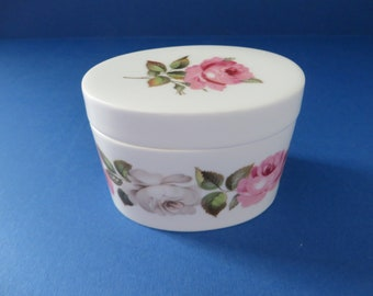 Royal Worcester vintage 1960's Royal Garden oval trinket box