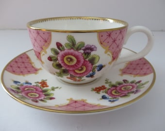 Royal Worcester vintage 1990's small coffee cup and saucer