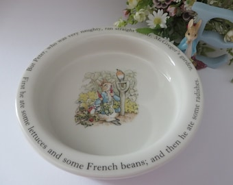 Beatrix Potter vintage 1990's Peter Rabbit Porringer
