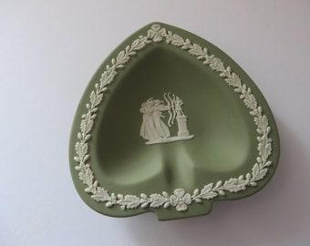 Wedgwood Jasperware  sage green vintage 1980's ring dish