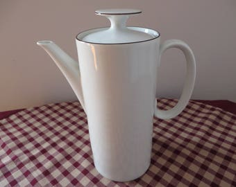 Thomas vintage 1970's white banded coffee pot