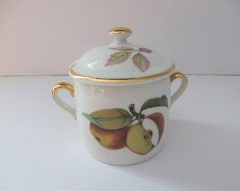 Worcester vintage 1960's Evesham Jam pot
