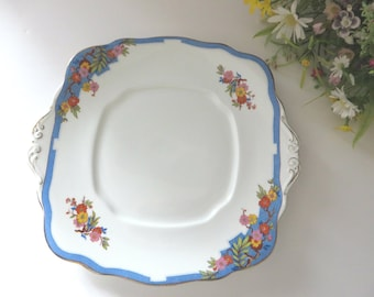 Royal Albert Crown vintage 1930's June cake plate