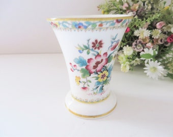 Coalport vintage 1960's Ming Rose posy vase
