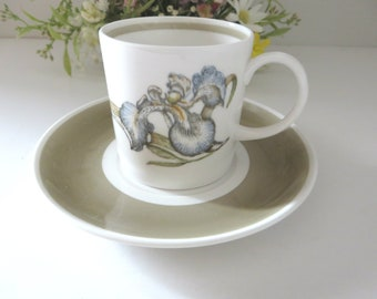 Susie Cooper Iris vintage 1960's coffee cup and saucer