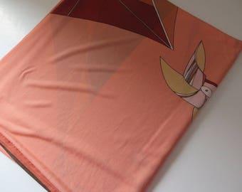 Pink Peach and Kite design summer wrap