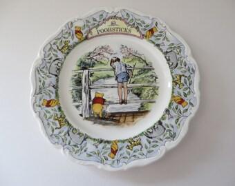 Royal Doulton vintage 1980's Pooh Sticks plate