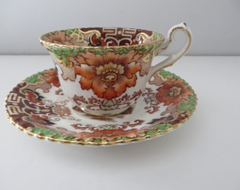 Samuel Radford 1890's Imari pattern small coffee cup and saucer