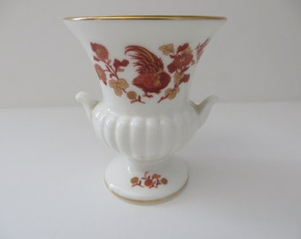Wedgwood Golden Cockerel vintage 1980's urn vase