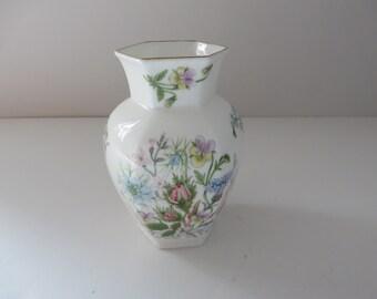 Aynsley vintage 1970's Wild Tudor Chelford style vase