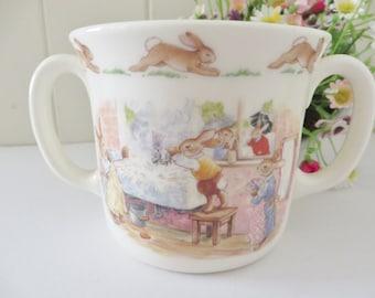 Bunnykins vintage 1980's Rabbits in the laundry mug