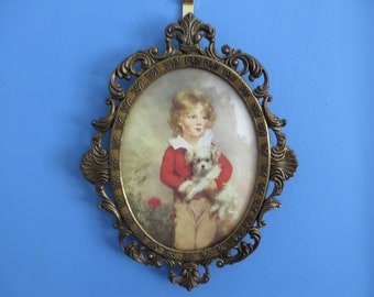 Vintage 1960's Italian picture and frame