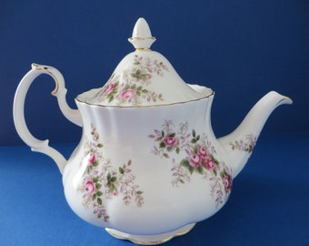 RESERVED. Royal Albert Lavender Rose 1970's vintage tea pot