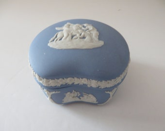 Wedgwood vintage 1980's pale blue  trinket box