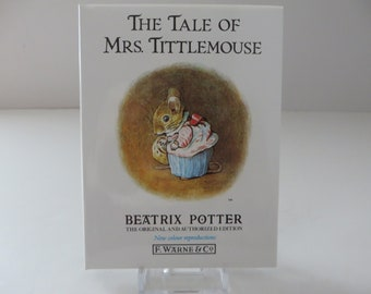 Beatrix Potter 1995 Tale of Mrs Tittlemouse vintage book