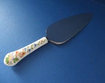 Aynsley vintage Cottage Garden 1970's cake knife