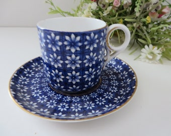 Royal Crown Derby antique 1880's Daisy coffee cup and saucer