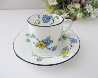 Heathcote  vintage 1920's floral coffee cup and saucer