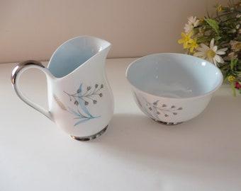 Queen Anne vintage 1950's Glade blue  Creamer set