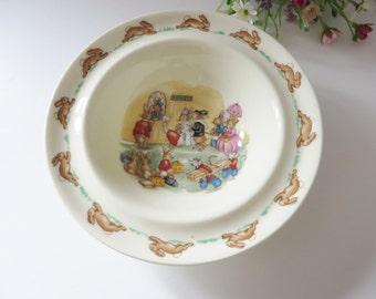 Bunnykins vintage 1980's  cereal bowl
