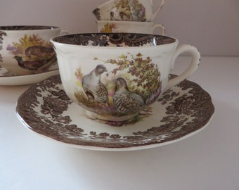 Palissy vintage 1960's  Game series breakfast cup and saucer