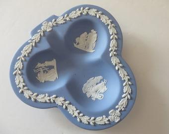 Wedgwood Jasperware pale blue vintage 1950's dish