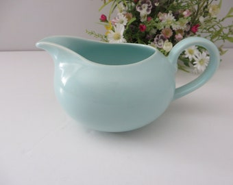 Poole Pottery vintage 1970's blue turqouise  jug