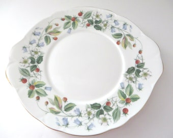 Duchess vintage 1990's Strawberry fields cake plate