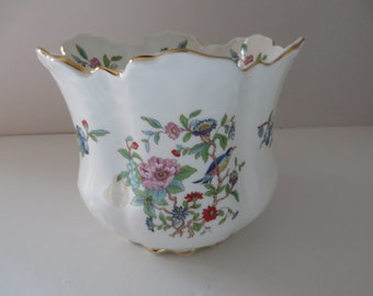 Aynsley Pembroke vintage 1960's blue planter pot