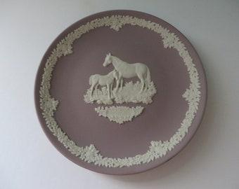 Wedgwood Jasperware 1980's lilac plate
