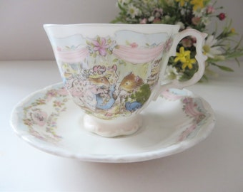 Brambly Hedge vintage 1980's Wedding cup and saucer