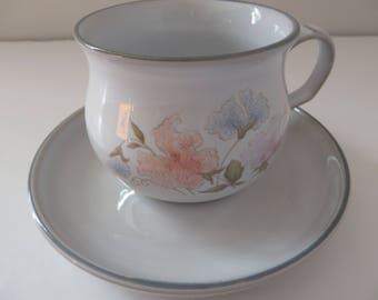 Denby vintage 1980's Dauphine teacup and saucer