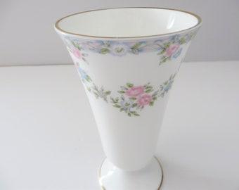 Coalport vintage 1970's  Trellis Rose vase