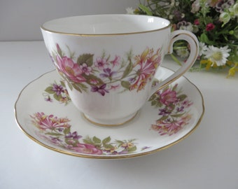 Colclough Wayside breakfast 1970's vintage cup and saucer