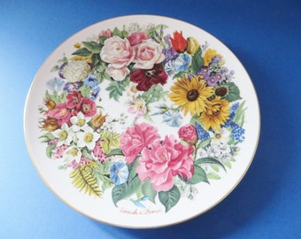 German vintage floral Grand Finale 89 collectible plate