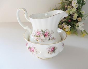 Royal Albert 1960's vintage Lavender Rose creamer set