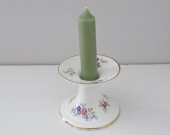 Royal Albert vintage 1980's  floral candlestick