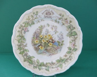 Brambly Hedge vintage 1980's Spring Season small tea plate
