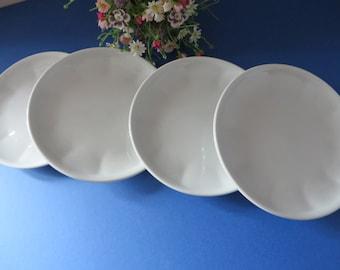Apilco vintage 1980's french white tea plate