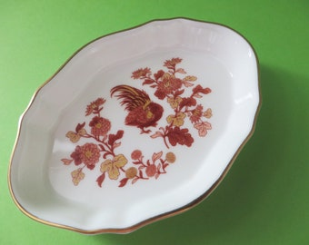 Wedgwood Golden Cockerel vintage 1980's ring dish