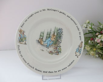 Beatrix Potter vintage 1990's Peter Rabbit and Mr McGregor tea plate plate