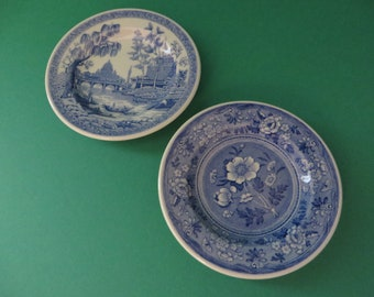 Spode pair of vintage miniature 1990's plates