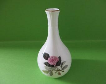 Wedgwood vintage Hathaway Rose 1970's bud vase