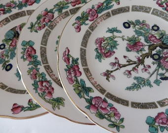 Royal Grafton vintage 1950's set of five Indian tree tea plates