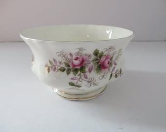 Royal Albert vintage 1970's Lavender rose small sugar bowl